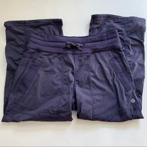 Lululemon Cropped Purple Studio Pant Size 4
